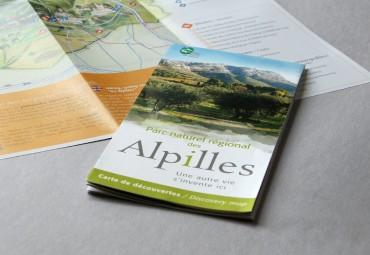 Carte touristique du Parc des Alpilles