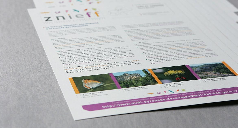 Supports de communication ZNIEFF Midi-Pyrénées