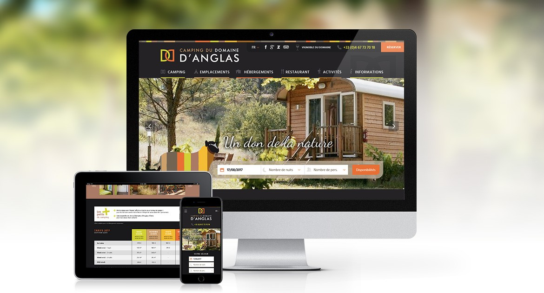 Site vitrine du camping d'Anglas